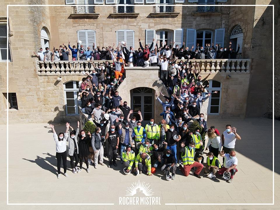 Rocher Mistral rassemble déjà près de 100 personnes de la région d'Aix-en-Provence et Salon-de-Provence. De nombreuses offres d'emploi vont encore être publiées.