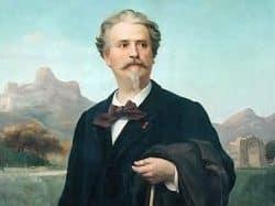 Portrait de Frédéric Mistral par Félix Auguste Clément (1885)